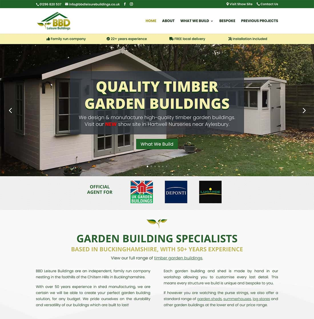 New Design - BBD Leisure Buildings Homepage
