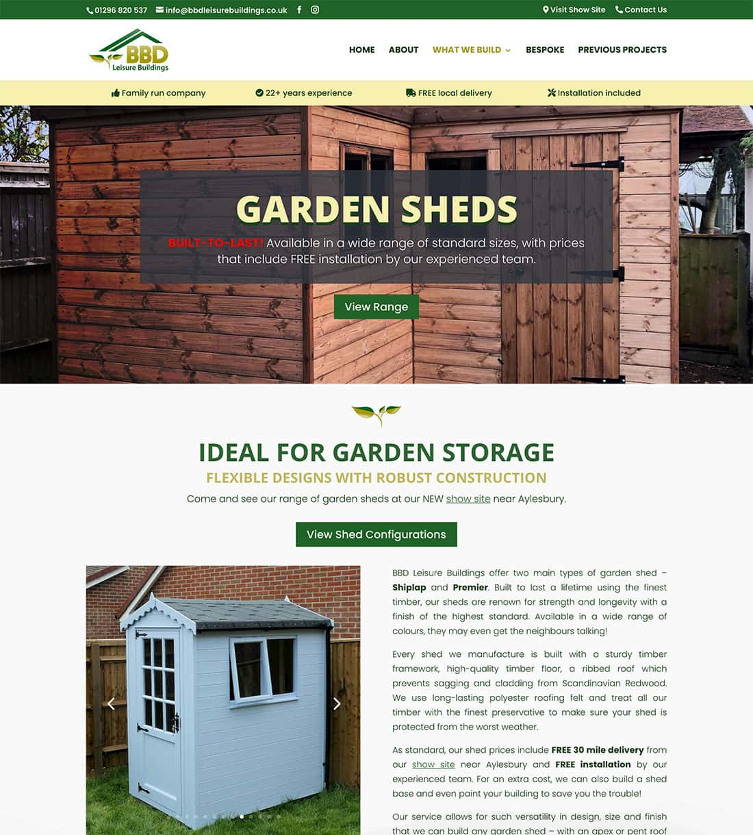 New Design - BBD Leisure Buildings Sheds Page