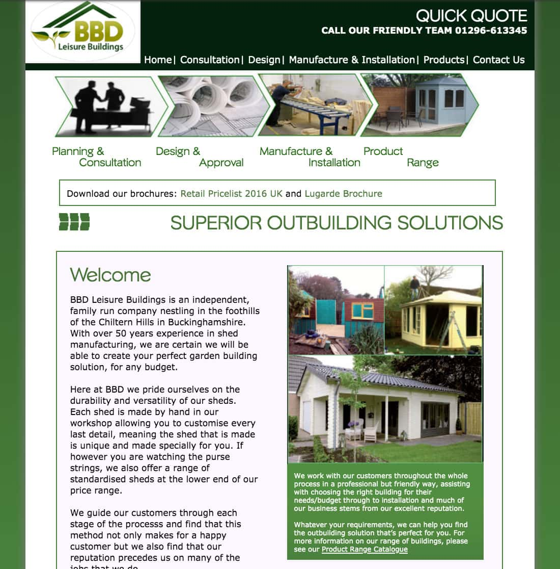 Old Design - BBD Leisure Buildings Homepage