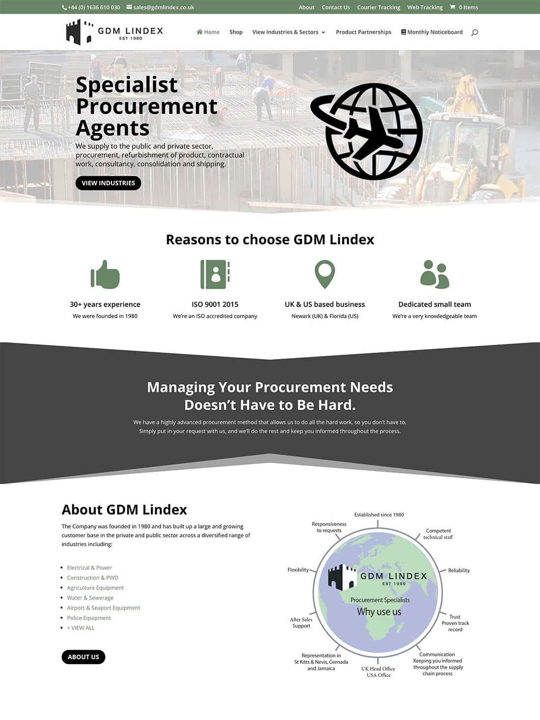 GDM Lindex homepage design