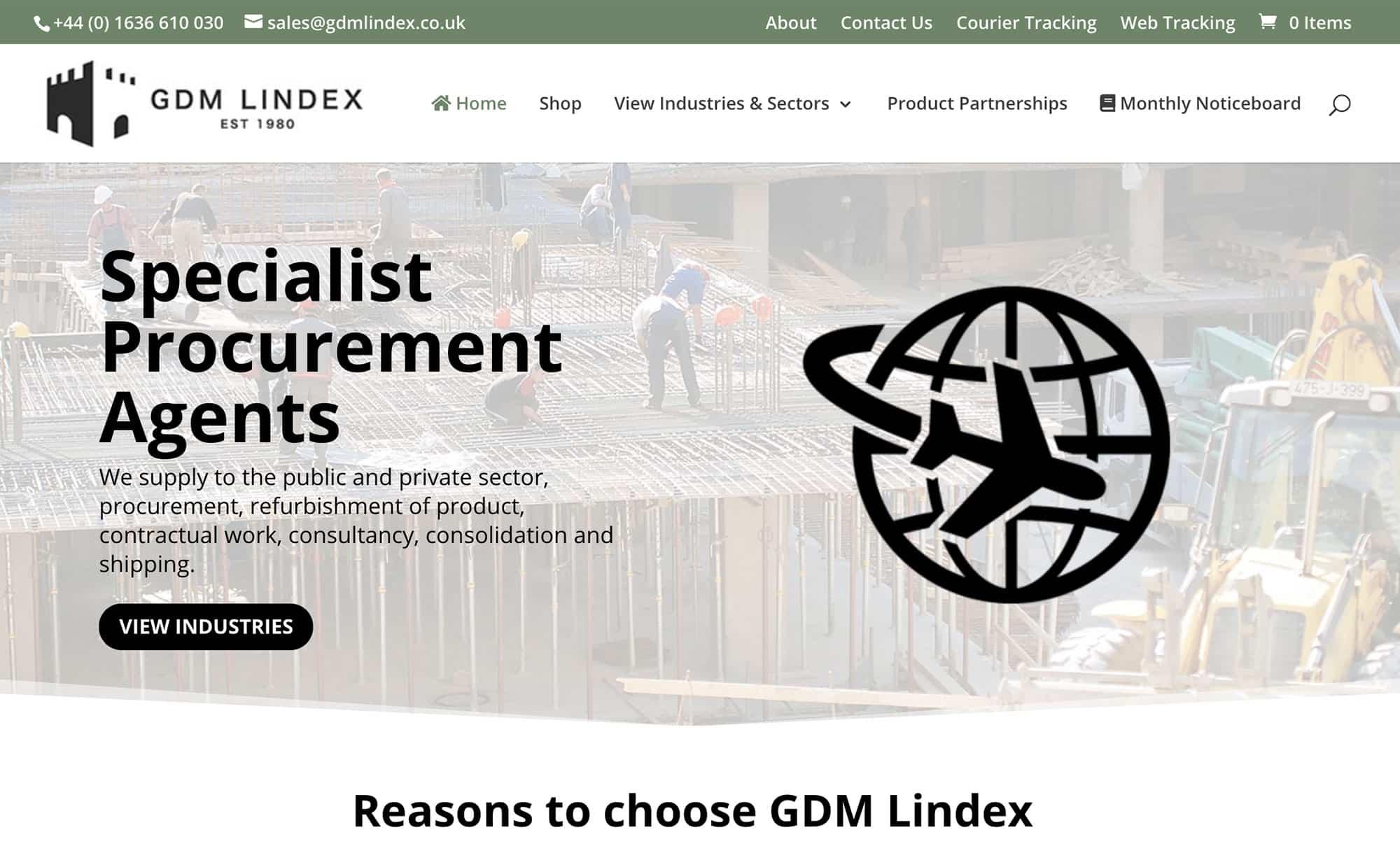 GDM Lindex website homepage