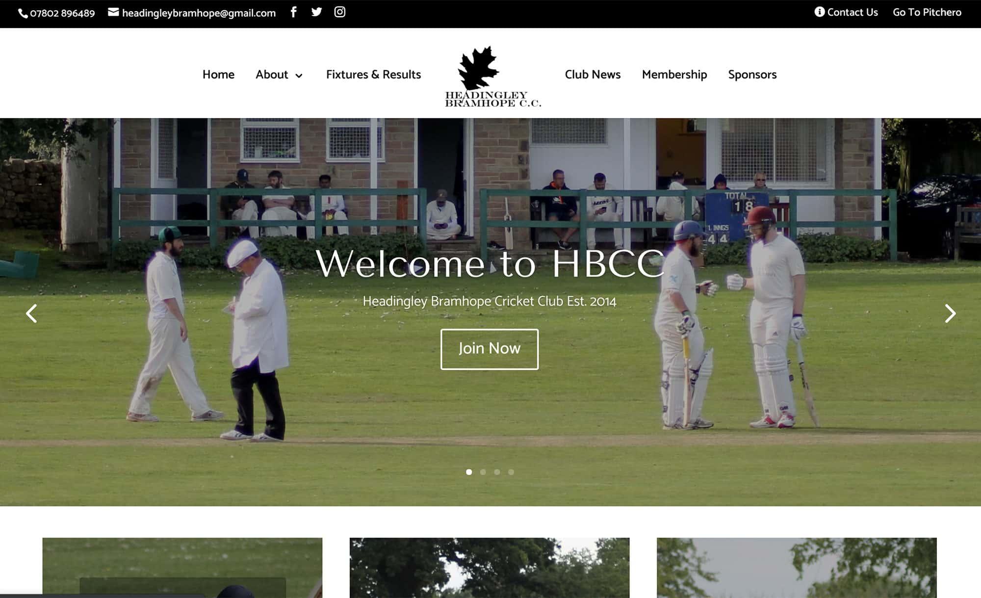 HBCC website homepage