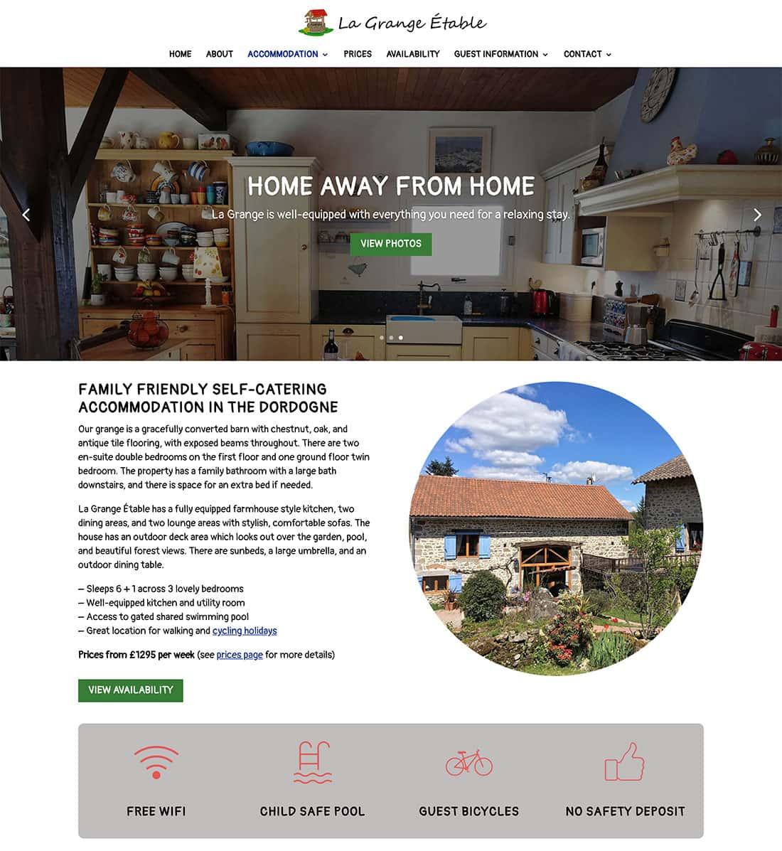 NEW Design - La Grange Etable Farmhouse Accommodation Page