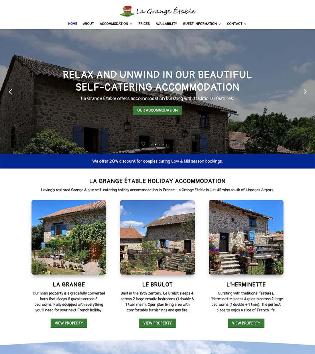 NEW Homepage Design - La Grange Etable