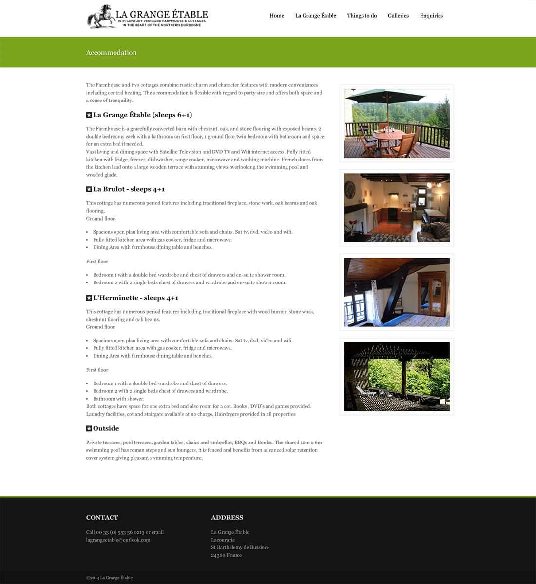 Old Design - La Grange Etable Accommodation Page