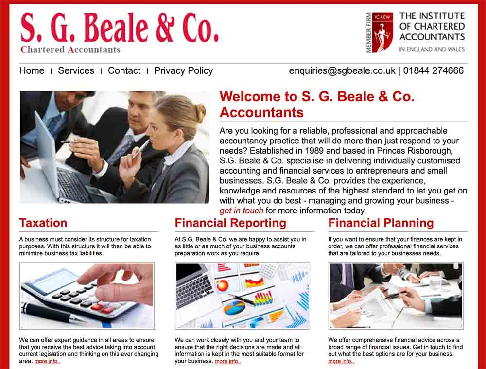 My first website - S.G.Beale & Co Accountants
