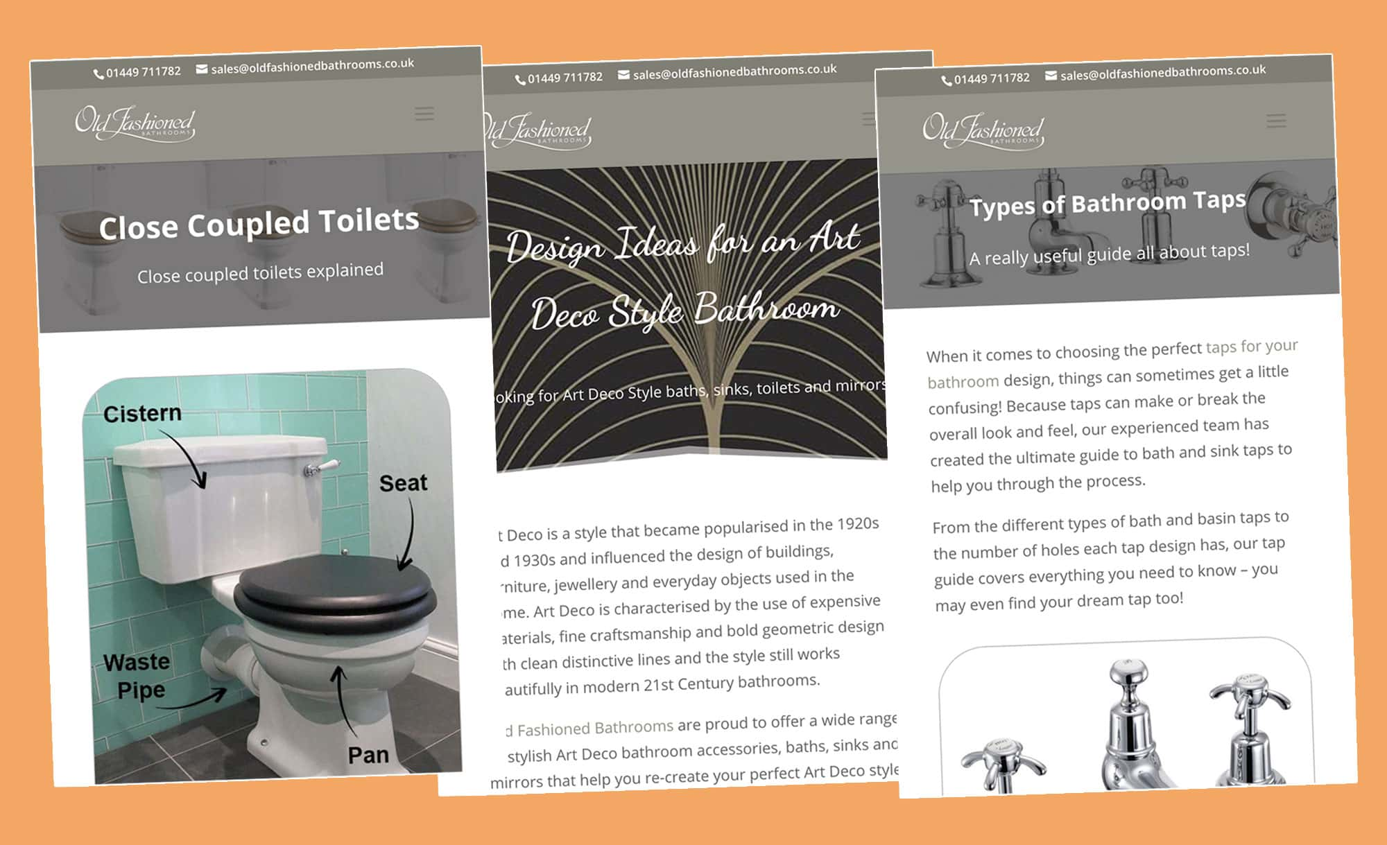 Old Fashioned Bathrooms blog content