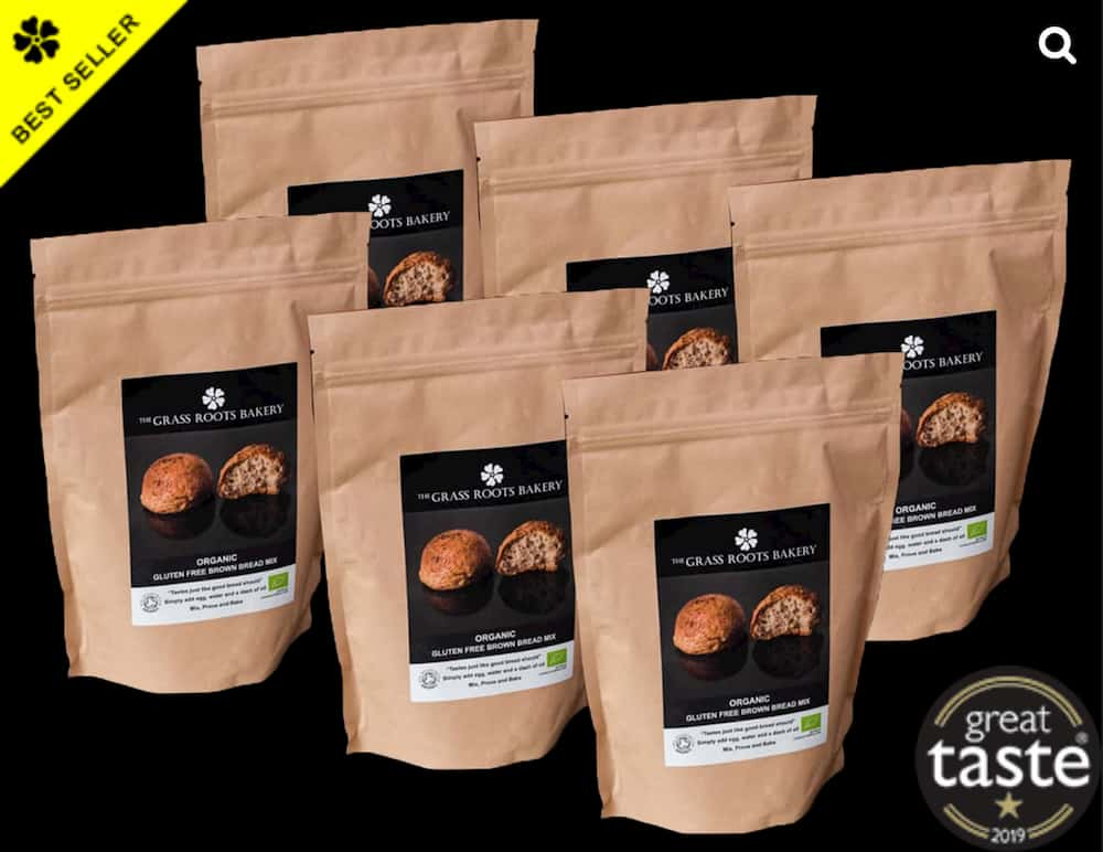 Grass Roots Bakery 6 x large bags - product variation example