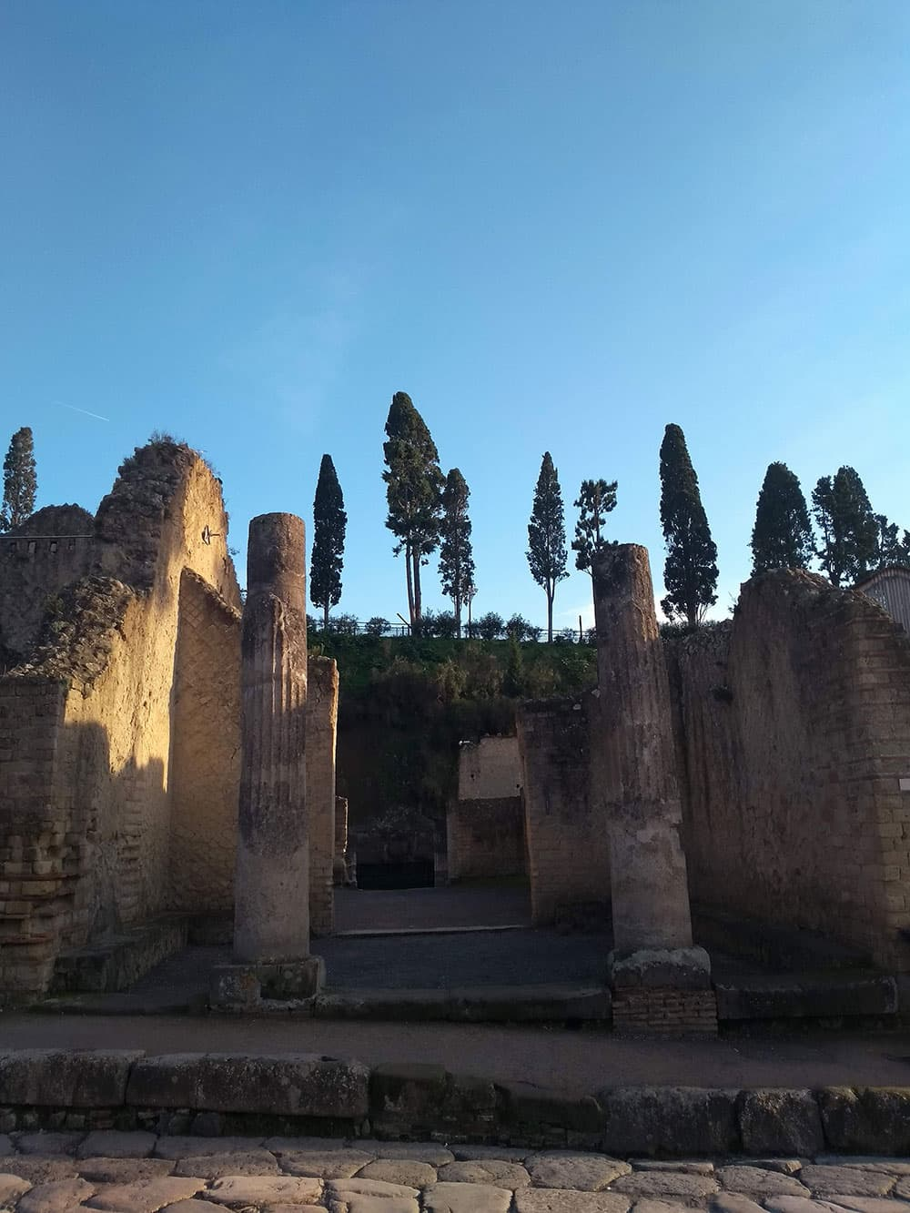 A ruin villa at Herculaneum
