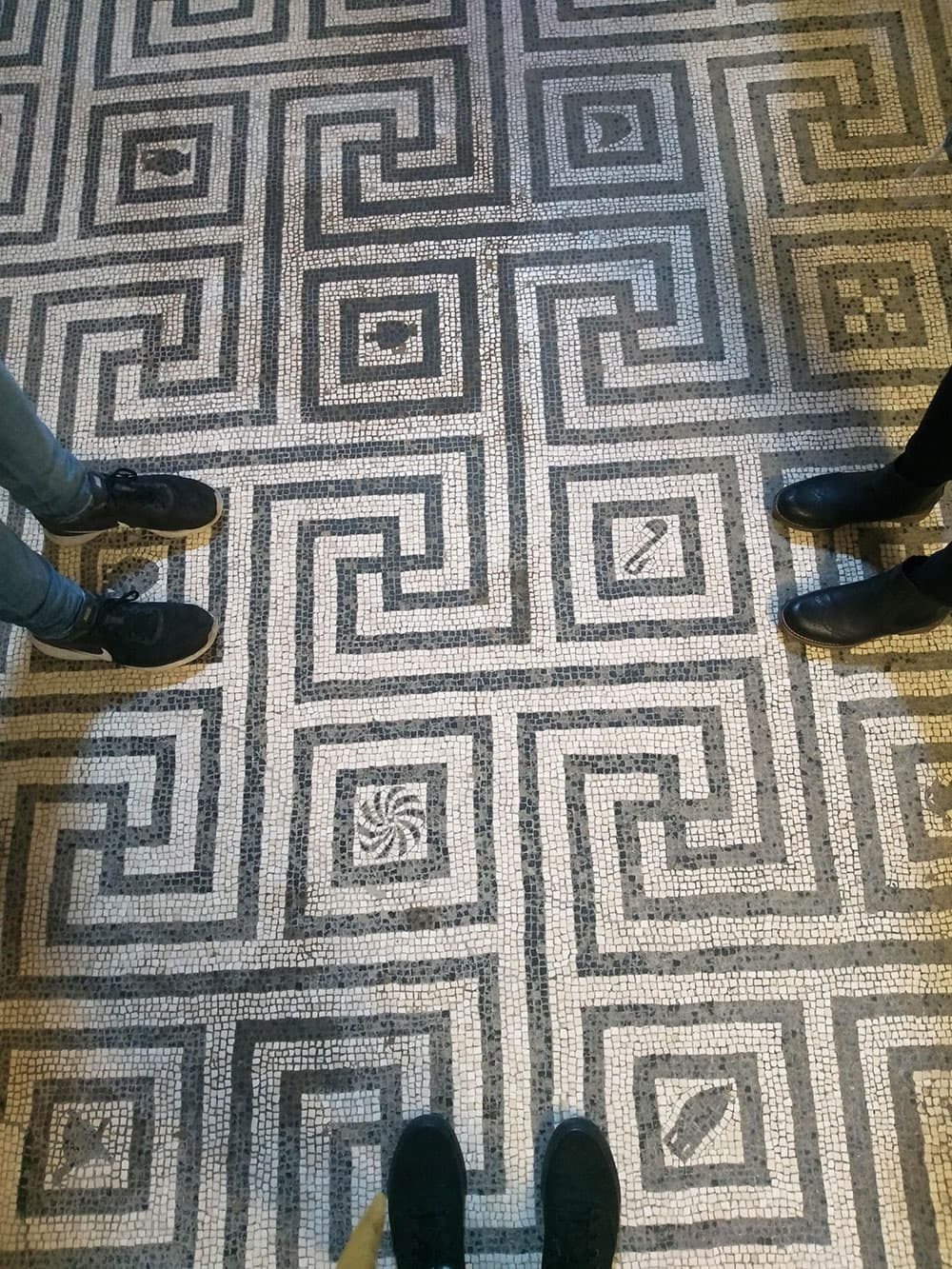 Ancient floor mosaic at Herculaneum