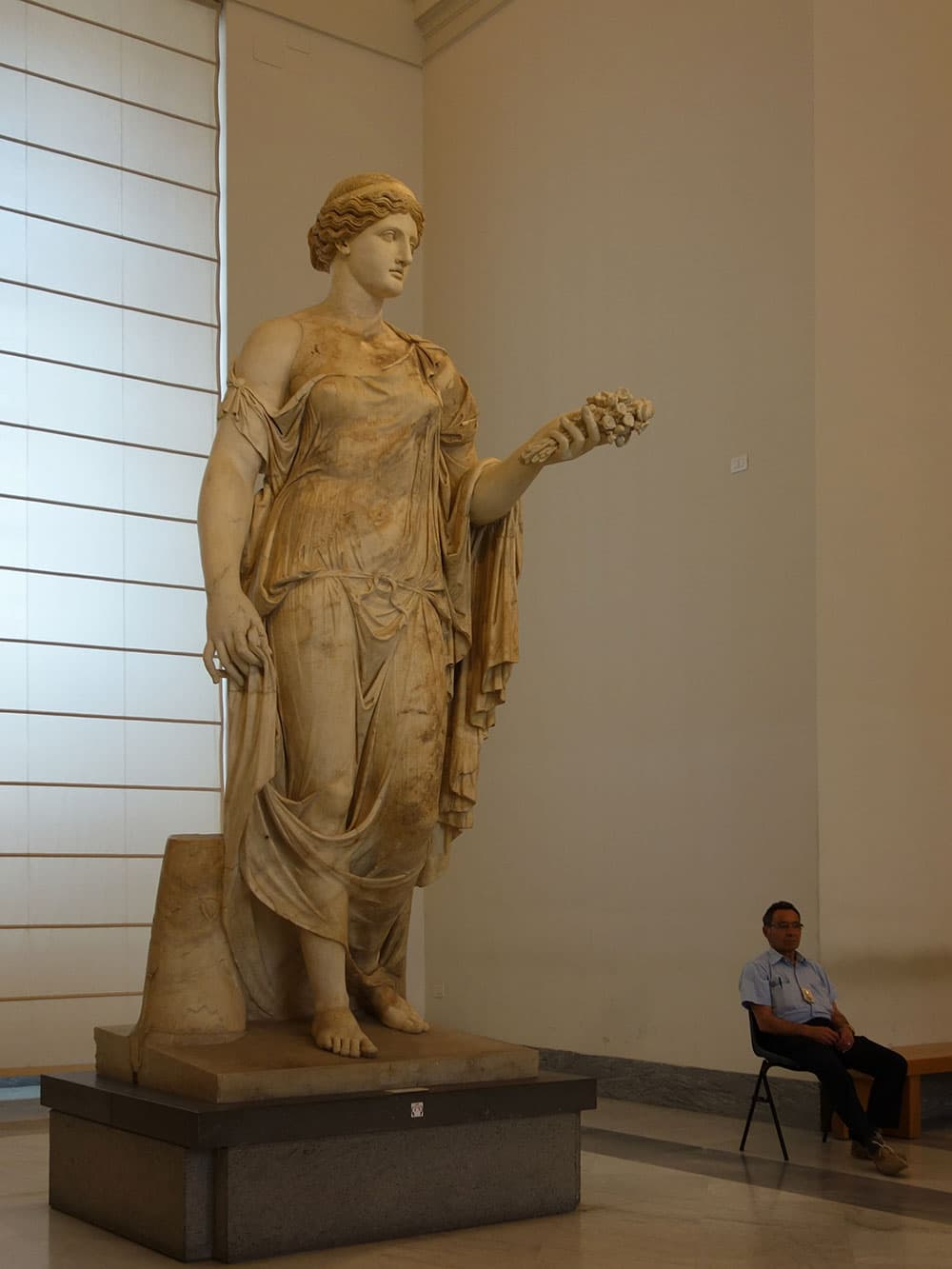 A statue inside Archaeological Museum in Naples © John Karwoski