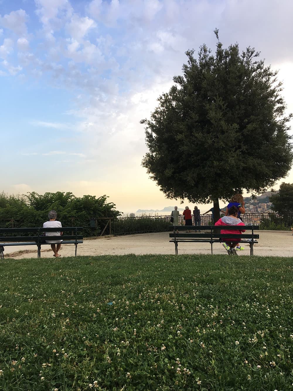 Viewing terrace overlooking Naples in the Royal Park