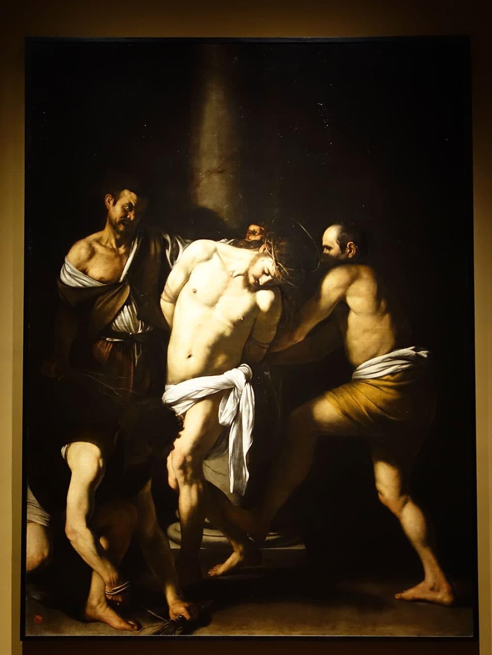 Caravaggio painting inside Capodimonte Museum © John Karwoski