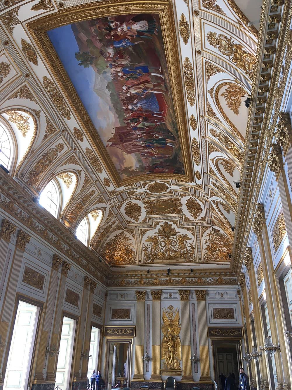 Gold interior inside Caserta Palace