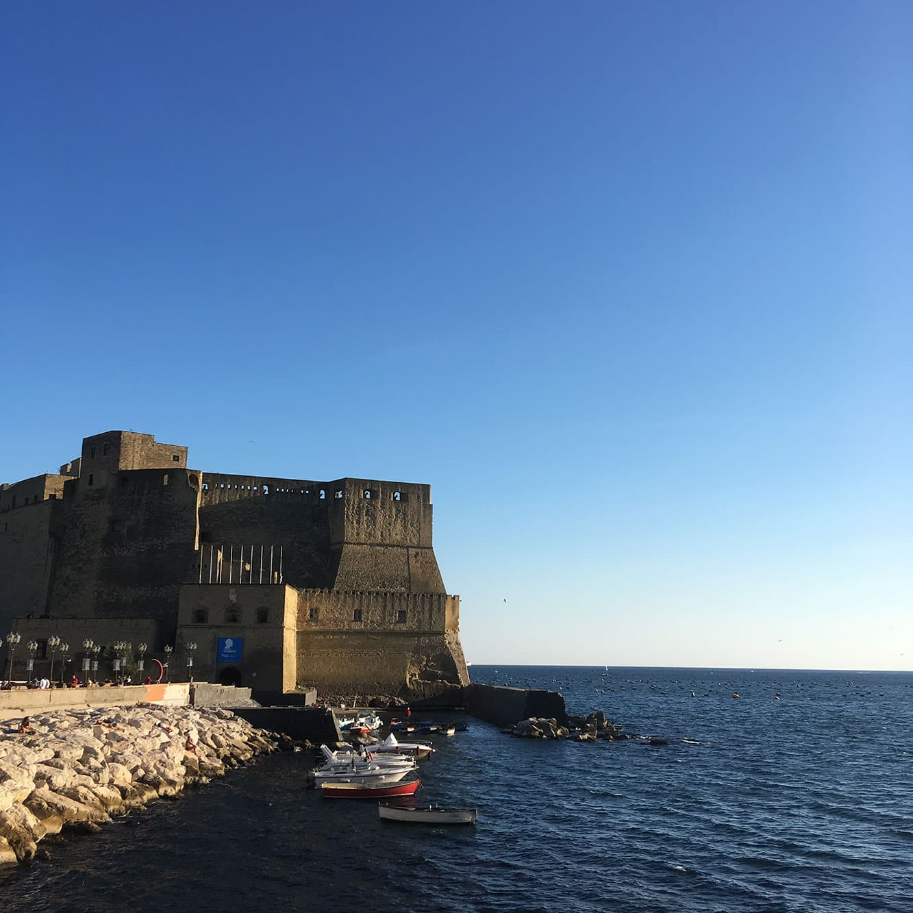 View of Castel dell'Ovo from Naples's Lungomare