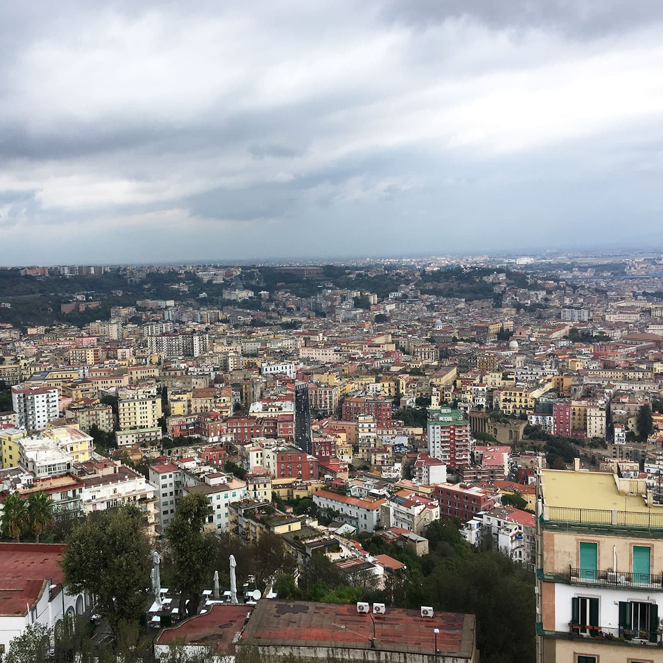 Looking over Naples from Castel Sant'Elmo