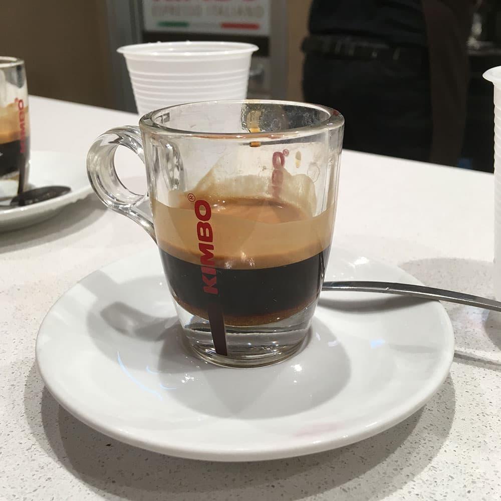 Enjoying a KIMBO espresso in Naples