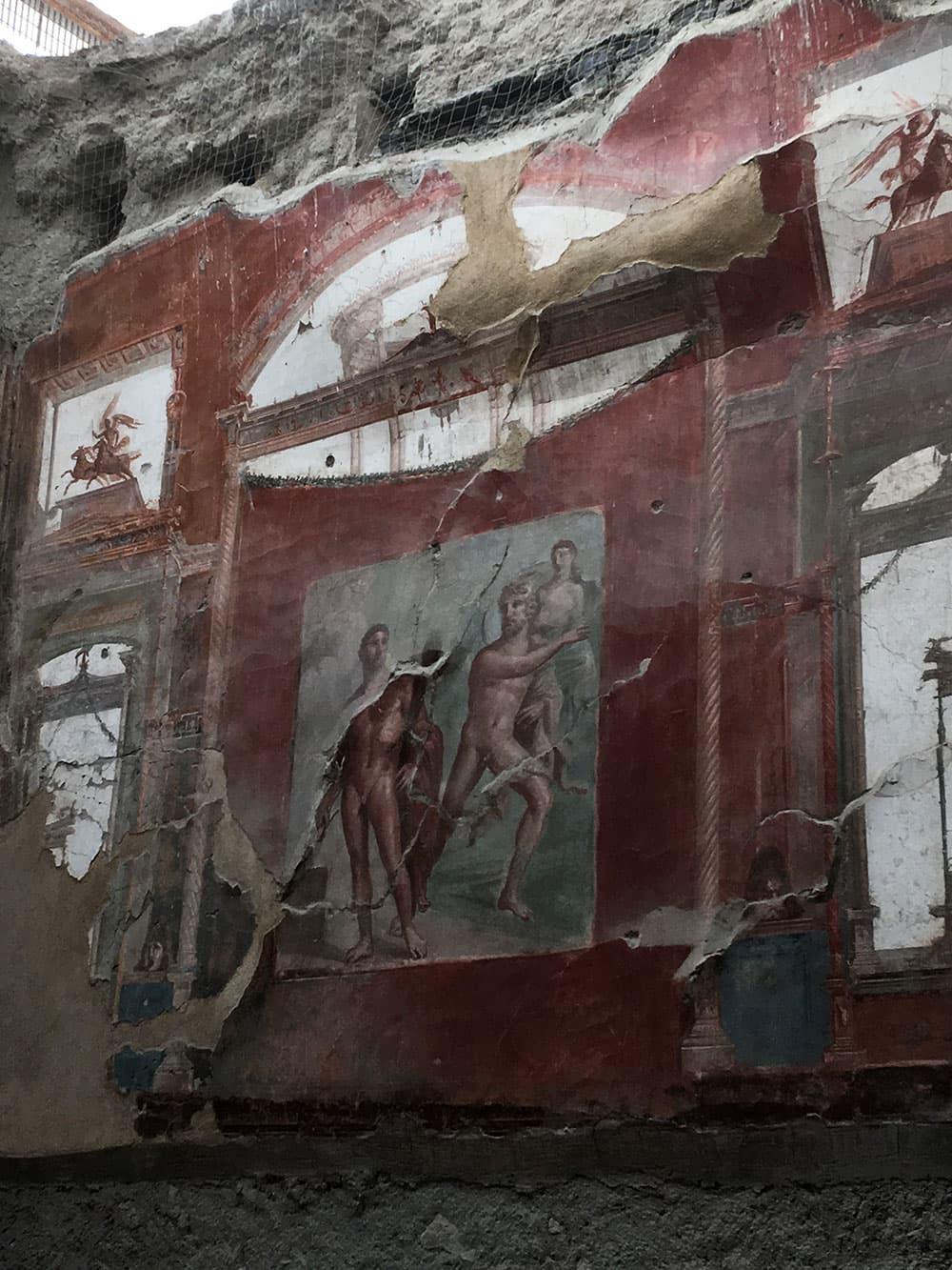 An ancient fresco at Herculaneum
