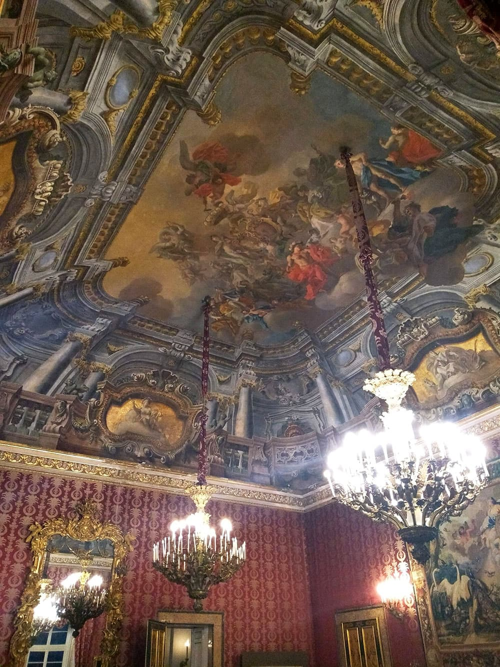 Opulent fresco covered room inside the Royal Palace