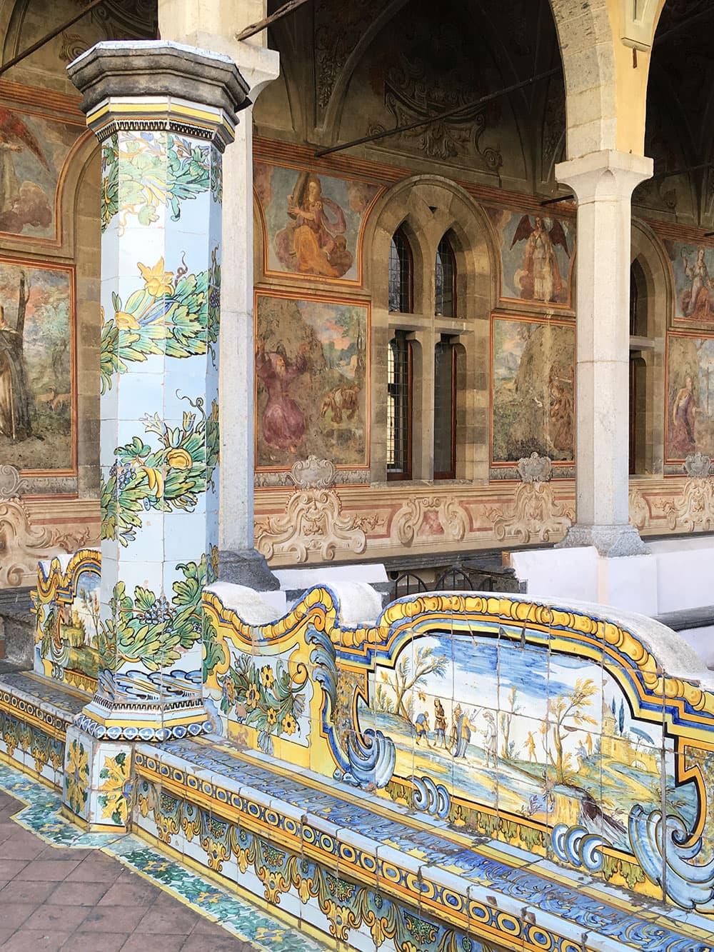 Wall fresco at Santa Chiara courtyard