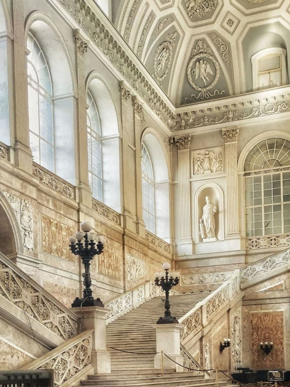 Double-staircase (Scalone d'onore) inside the Royal Palace of Naples © Google Photos