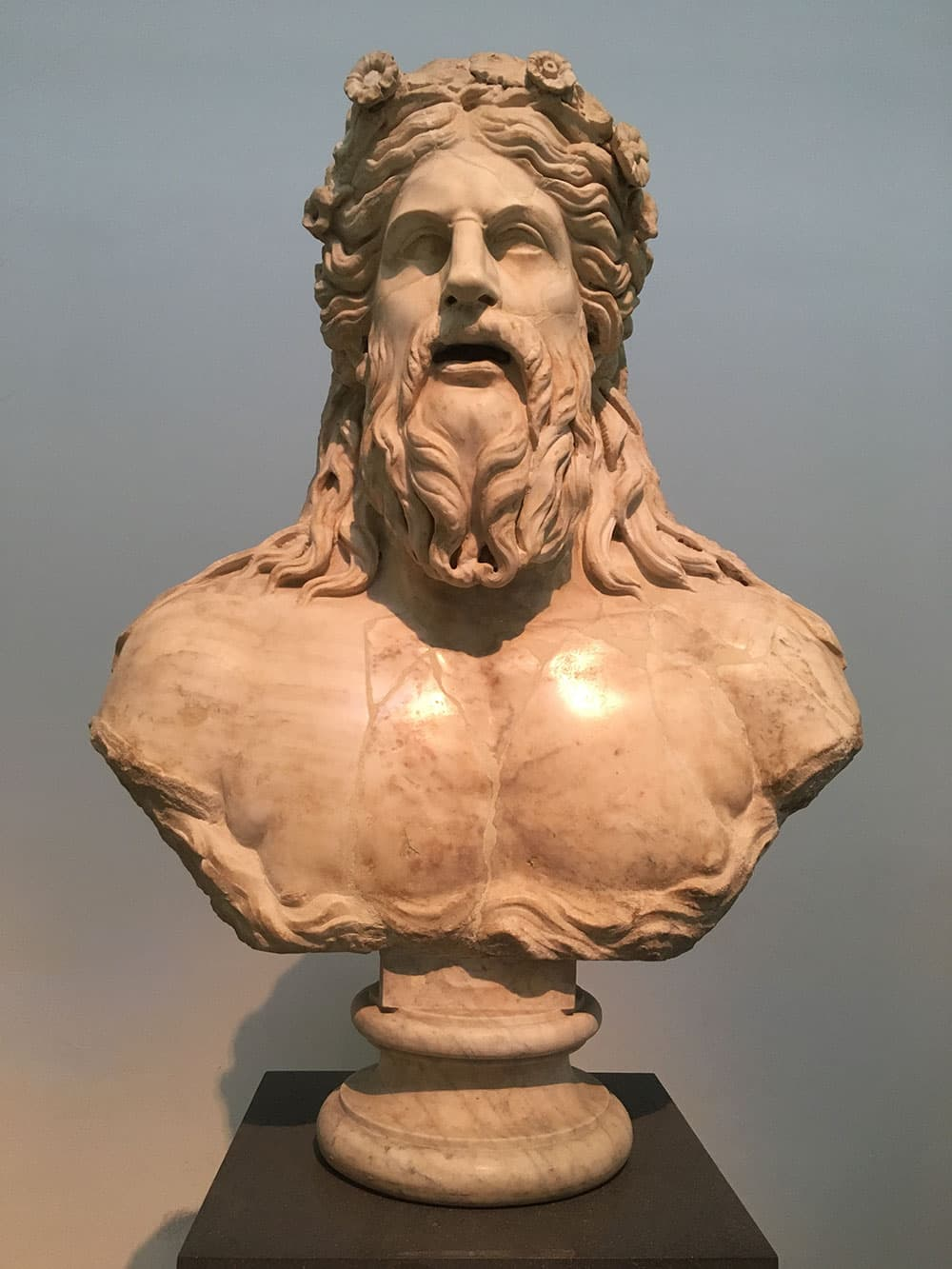 A Greek bust inside the National Archaeological Museum
