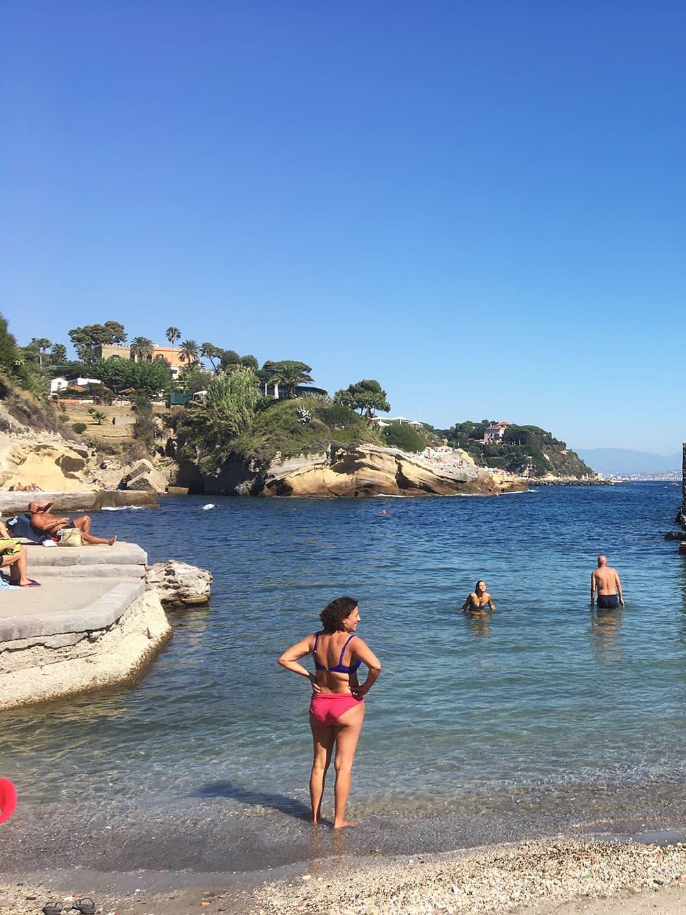 Gaiola beach is a secret hotspot with locals