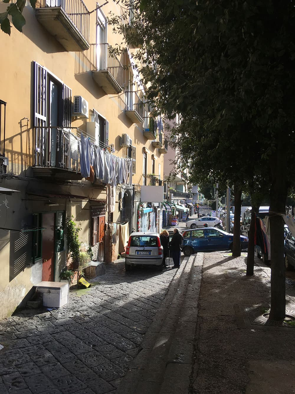 Authentic charm down a street in Naples