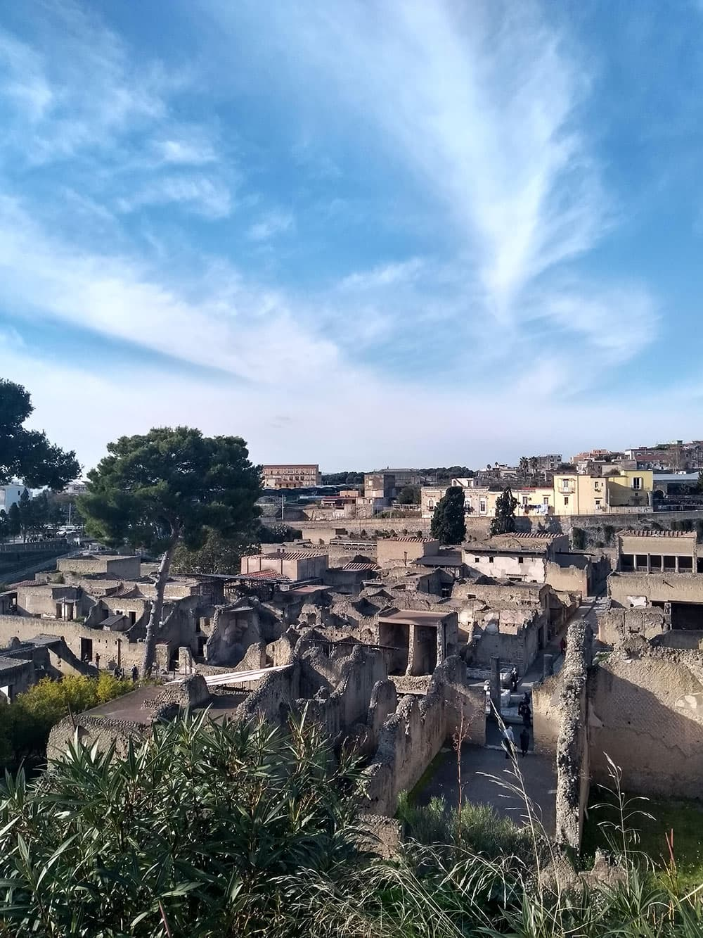 Looking over Herculaneum ruins