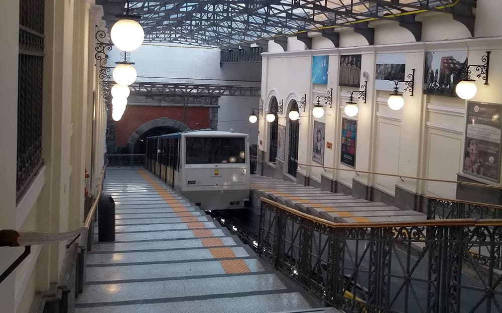 Central funicular station in Naples