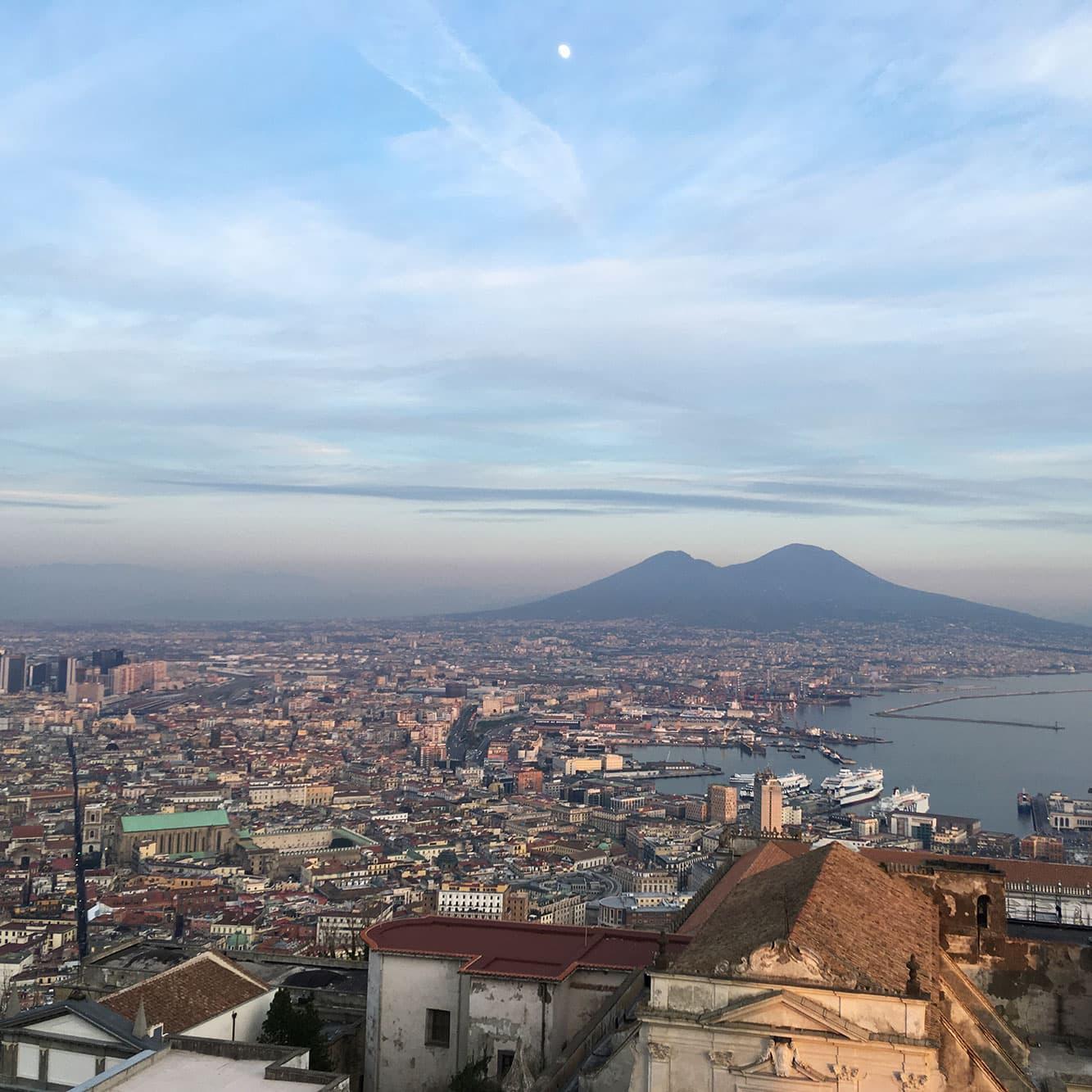 View of Naples and Mount Vesuvius from Castel Sant'Elmo