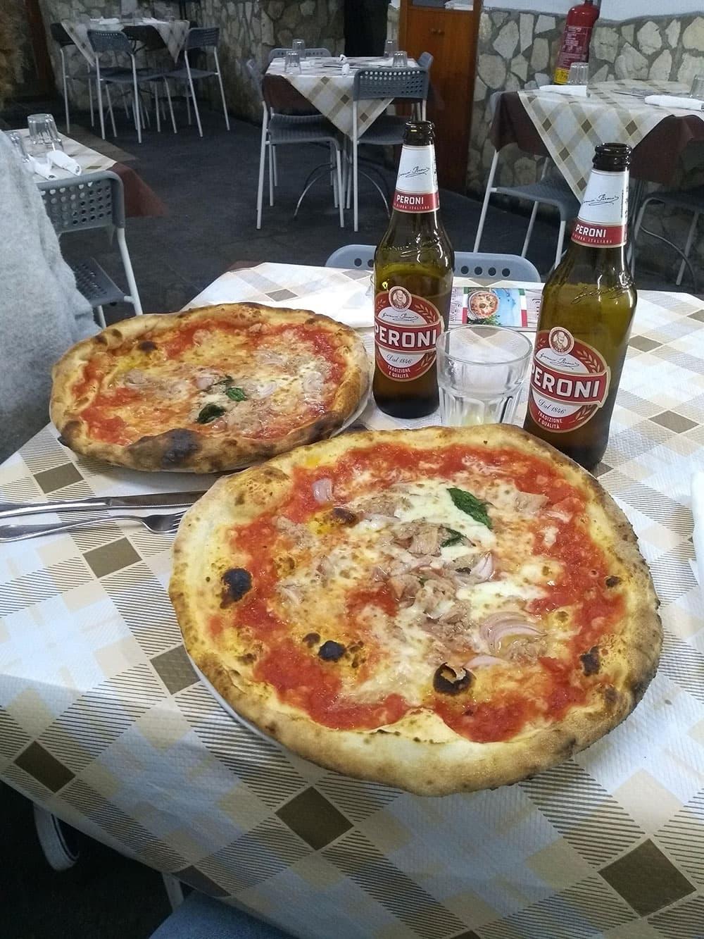 Pizzas & Peroni at Vittoria in Naples