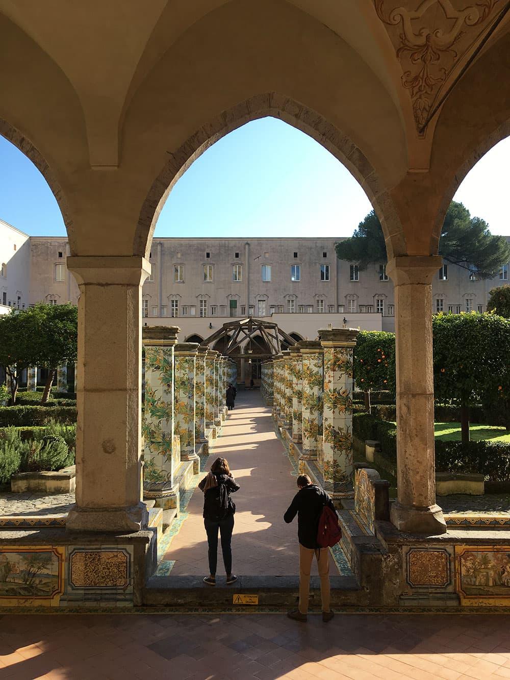 Santa Chiara cloister courtyard