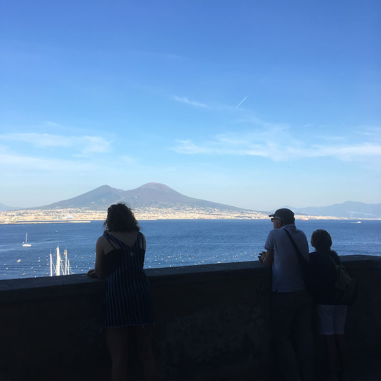 View of Vesuvius from the fort's roof