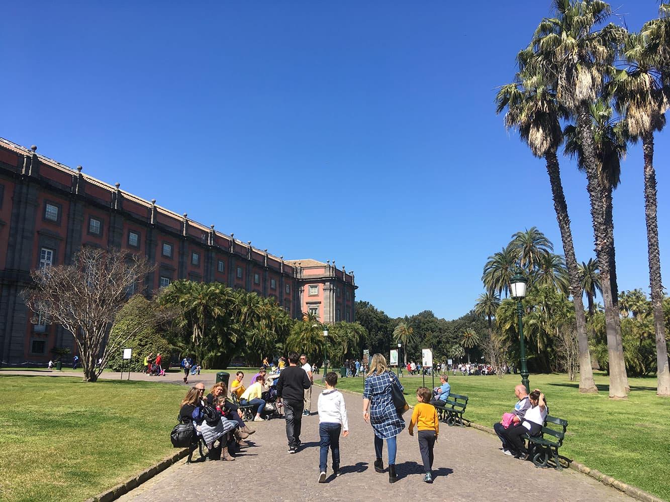 Walking up to Capodimonte Museum